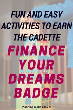 Fun and Easy Activities To Earn the Cadette Finance Your Dreams Badge Cadette Girl Scout Badges, Cadette Badges, Girl Scout Troop, Girl Scouts, Girl Scout Activities, Fun Activities, Girl Running, Financial Literacy, Scouting