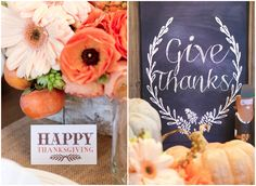 Thanksgiving Gathering Party Ideas from AmysPartyIdesa.com and Swoozies.com   Chalkboard Menu Board