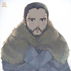 Джон Dessin Game Of Thrones, Arte Game Of Thrones, Cersei Lannister, Sansa Stark, Geeks, Daenerys Targaryen Art, Jon Targaryen, Jon Snow And Daenerys, Game Of Thrones Winter