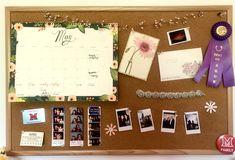 Decorated cork board for teen girl bedroom
