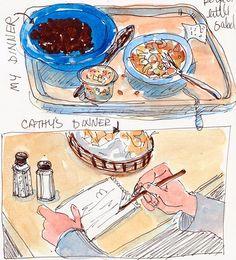 Sketching Dinner at Cactus by Jana Bouc, via Flickr