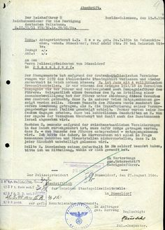 The letter which was sent by Heinrich Himmler, reichsführer of the SS and overlord of the death camps, dated 27 August 1940, granting Hess 'relief and protection as per the Führer¿s wishes'