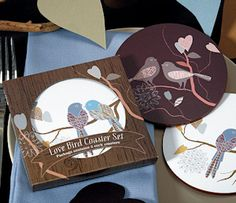 Love Birds Coaster Favors from Wedding Favors Unlimited