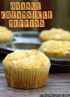 Orange Creamsicle Muffin Recipe - On Sugar Mountain