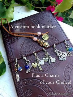 Bookmarker Pagemarker Book Thong and Free Clip On Charm for a Midori Traveler's Notebook or Moleskin Journal Notebook