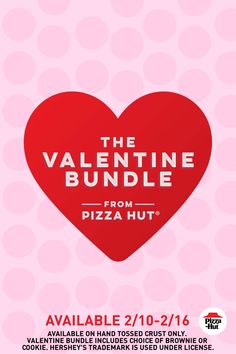 Who needs a valentine when you've got your girls? Crush your Galentine's party spread with a Heart-Shaped Pizza and your choice of a HERSHEY'S cookie or brownie. Order Pizza Online, High Calorie Snacks, Heart Shaped Pizza, Party Spread, Pizza Delivery, Pizza Hut, Valentine's Day Diy, Herbal Remedies, Braid