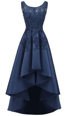 long prom dresses - Women's Elegant Sleeveless Lace High Low Prom Dress High Low Prom Dresses, Formal Evening Dresses, Trendy Dresses, Tight Dresses, Cute Dresses, Beautiful Dresses, Fashion Dresses, Elegant Formal Dresses, Dress Formal