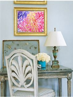 Banff Garden High Noon Flower Abstract Painting on by GildedMint