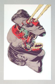 Illustrations sérigraphiées / Smithe   Design Graphique