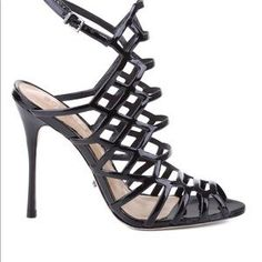 SCHUTZ Shoes | Final Markdown Caged Heels 7 Super Sexy | Poshmark Caged Heels, Sexy Heels, Shoes Heels, Black Sandals, Gladiator Sandals, Just Do It, Comfy, Boutique, Things To Sell
