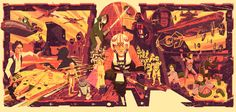 """My Star Wars-Episode 4 """" A New Hope"""" tribute piece is 11x23 in size on gold matte parchment paper. This 1st edition of 1000 also comes with a limited edition mini print as well!"""