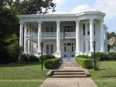 Merrehope in Meridian MS originally built in 1858. One of only six antebellum homes which escaped the torch of Union General Sherman in the Civil War. It served as headquarters for Confederate General Polk & also shelter for several of General Sherman's officers during the war.