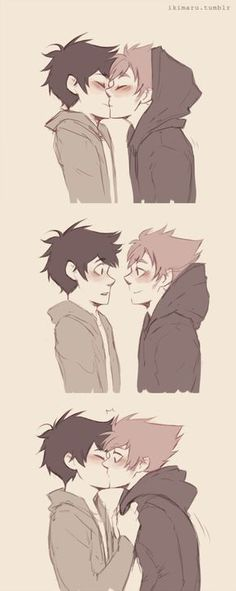 Kiss the boii by ikimaru-art iT LOOKS LIKE DIRK AND JAKE WITHOUT THEIR GLASSES SO IMMA PUT IT IN MY HOMESTUCK BOARD