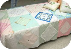 Hanky Quilt by Crafty Nature, via Flickr