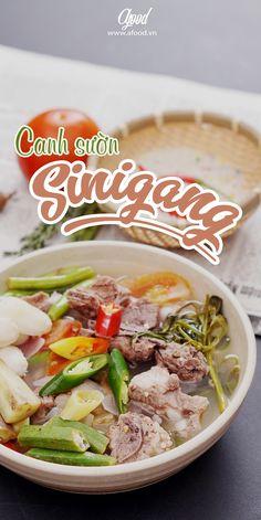 Pork Sinigang – Canh sườn me chua là một món ăn mang đậm nét truyền thống của người Philippine với sườn heo được hầm mềm, vị chua từ những trái me tươi, vị cay từ ớt và thêm mùi vị từ rất nhiều loại rau củ.