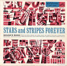 wardomatic:  Stars and Stripes Forever: 1954. Illustrator: Ed Sorell. (viawardomatic)