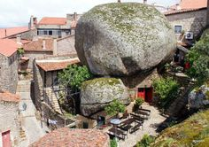 Monsanto, a town built among boulders on Mt. Monsanto, Portugal