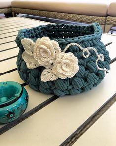 "260 Beğenme, 20 Yorum - Instagram'da Trapillo Design (@trapillodesign): """" Crochet Bowl, Crochet Basket Pattern, Knit Basket, Crochet Motif, Crochet Yarn, Crochet Patterns, Crochet Baskets, Easy Yarn Crafts, Cotton Cord"