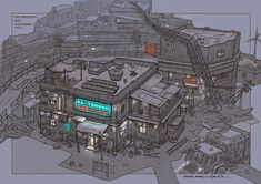 post apocalyptic slum village (2) by rowenawangart on DeviantArt