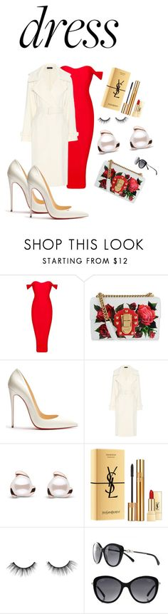 """Dress to impress"" by anna-mcv ❤ liked on Polyvore featuring Dolce&Gabbana, Christian Louboutin, Polo Ralph Lauren, Yves Saint Laurent, tarte and Chanel"