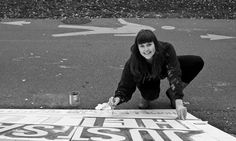 YESTERDAY ARTIST Sara came to paint the 'JUST SAY HELLO' sign!   Sara spent the whole day out on the Burke Gilman trail painting, smiling, andAND talking about Homeless In Seattle to lots&lots of interested people strolling down the trail.  Can't wait for ALL of you to come by the office and check out the new JUST SAY HELLO sign, it should be finished and up by Monday!  A huge heart-felt hug to you Sara from all of us!!!  Fremont 11/5/2013 Just Say Hello, Hello Sign, Felt Hearts, Days Out, Hug, Seattle, Trail, Sayings, Artist
