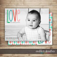 Holiday Photo Card / Christmas Photo Card / Personalized by OandD