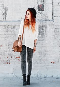 70277003266 This girls style. Le happy Grunge Fashion