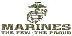 The Few The Proud The Marines Vinyl Decal sticker camouflage USMC United States Marine Corps Car Auto Vehicle