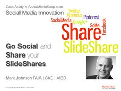 Go Social and Share Your Slideshares Mark Johnson, Faia, Case Study, Social Media Marketing, Don't Forget, Presentation, Things Happen, Learning, Business