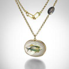 Intaglio Fish Pendant,Gabriella Kiss