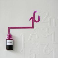 Ink Calendar – Le calendrier liquide par Oscar Diaz