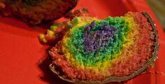 Rainbow cake bites :)  ALL MINE!