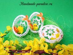 Как крахмалить вязаные пасхальные яйца - Handmade-Paradise