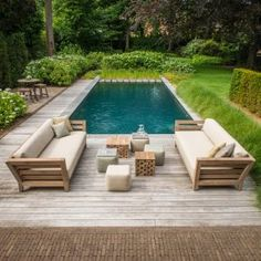 Mia Outdoor Sofa from Belgian designer Gommaire - best prices from Luxury Outdoor Living - click through to see whole collection. Outdoor Cushions, Outdoor Fabric, Outdoor Sofa, Outdoor Spaces, Outdoor Living, Outdoor Decor, Teak Outdoor Furniture, Garden Furniture, Pool House Interiors