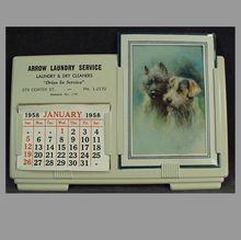 Old Advertising Calendar Sample 1958 - Arrow Laundry
