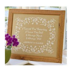 Celebrate the wedding or anniversary day of someone special with this gorgeous I Loved You Yesterday cross stitch kit. £23.00 | Past Impressions