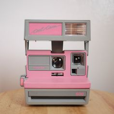 Vintage Pink/Grey Polaroid Cool Cam 600 Camera Battery by firda, $25.00