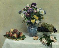 Henri Fantin-Latour was born in 1836, Still Lifes By Henri Fantin-Latour (French, 1836-1904)