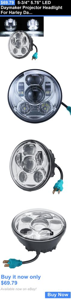 motorcycle parts: 5-3/4 5.75 Led Daymaker Projector Headlight For Harley Davidson Softail Deuce BUY IT NOW ONLY: $69.79