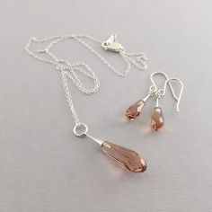 Blush Rose Crystal Pure Drop Trumpet and by CinLynnBoutique
