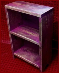 Cranberry Shabby Cottage Table Top  Book Case  by turquoiseangels, $35.00