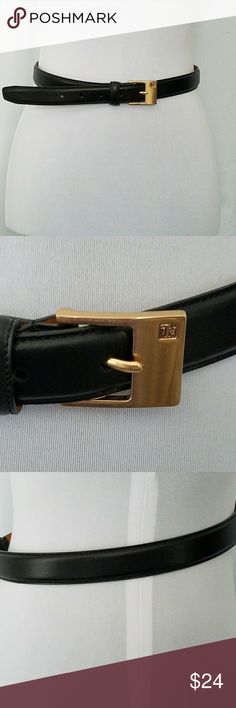 """RALPH LAUREN ITALIAN LEATHER BELT GOLD HARDWARE M RALPH LAUREN BLACK ITALIAN LEATHER BELT GOLD HARDWARE M  This stunning belt is on trend and ready for work or casual wear.  Length is 37"""" with belt buckle and 36"""" without belt buckle. Just a little less than 1"""" wide. All mea. surements are approximate and taken flat. In excellent condition. Virtually no signs of wear.  Tags: career, casual Ralph Lauren Accessories Belts"""