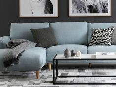 brody 2.5 seater sofa in light blue from OZ design