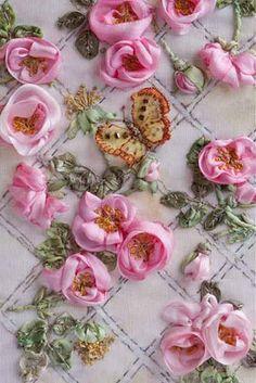 I ❤ ribbonwork . . .  Di van Niekerk's Silk Ribbon Embroidery