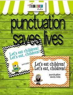 FREE!!  Punctuation Saves Lives