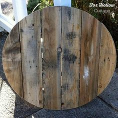 Pallet Wood into a Round Circle - perfect how to for the start of my oversized clock