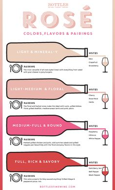 Rosé Wine Guide #wine #wineeducation #rosé