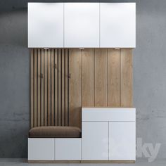 Möbel models: Wardrobe & Display cabinets - Hallway- storage 03 cabinet Your Own Home I Home Entrance Decor, House Entrance, Shoe Storage Entrance Hall, Hallway Storage Cabinet, Foyer Storage, Hall Furniture, Furniture Design, Hall Wardrobe, Sliding Wardrobe