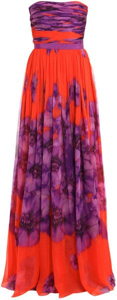 Giambattista Valli Silk-chiffon Long Dress