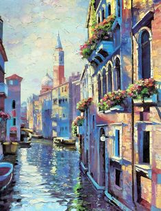 Howard Behrens (August 20, 1933 - April 14, 2014) - the world's most renowned palette knife artist. As a landscape and seascape artist, Howard Behrens has painted the idyllic lakes of Italy to the gardens of New England. He has had over 150 one-man shows from coast-to-coast since becoming a professional artist in 1980.